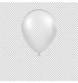 white balloon isolated vector image vector image