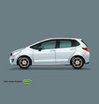 white car mock up isolated on grey background vector image vector image