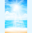 abstract blur sand beach and blue sky background vector image