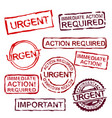 urgent stamps set vector image