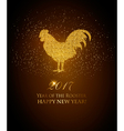 Happy New Year 2017 background Year of the Rooster vector image