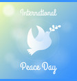 international peace day greeting card poster vector image