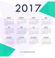 2017 new year calendar template design with vector image