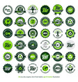 36 eco bio organic farm fresh labels vector image vector image