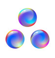 abstract color round forms set gradient fluid vector image