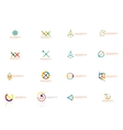Abstract line logo collection vector image