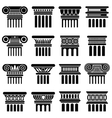 Ancient rome architecture column icons