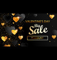 banner for valentines day big sale vector image vector image