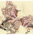 beautiful seamless wallpaper pattern with birds vector image vector image