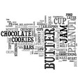 best cookies pb jam bars text word cloud concept vector image vector image