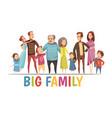big happy harmonious family portrait vector image