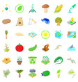 biology and ecology icons set cartoon style vector image vector image