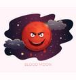 blood moon concept design lunar eclipse vector image vector image