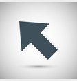 blue arrow vector image vector image