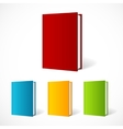 book cover set perspective vector image vector image