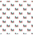 bounce house pattern seamless vector image vector image