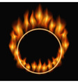 burning ring vector image vector image