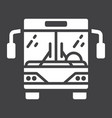 bus glyph icon transport and vehicle tour bus vector image vector image