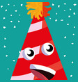 cartoon party hat vector image vector image