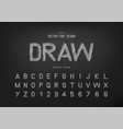 chalk font and alphabet hand draw typeface vector image vector image