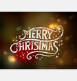 christmas lettering typography vector image vector image