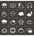 Clouds icon set vector image vector image