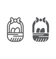easter basket line and glyph icon easter and vector image vector image