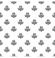 eco plant plug pattern seamless vector image vector image