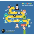 Education process concept vector image vector image