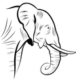 Elephant on a white background vector image
