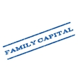 Family Capital Watermark Stamp vector image vector image