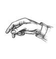 female hand pointer finger showing gesture vector image