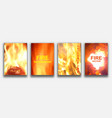 fire textured backgrounds abstract painting for vector image vector image