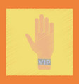 flat shading style icon hand vip vector image vector image