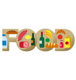 food grocery banner vector image
