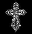 gothic cross vector image vector image