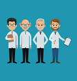 group doctor professional staff vector image vector image