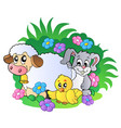 group of spring animals vector image vector image