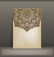 grunge paper card with circular pattern vector image