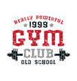 gym club emblem vector image vector image