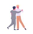 happy gay couple dancing cute lgbt family vector image