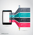 infographic design with smartphone vector image vector image