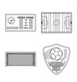 isolated object of soccer and gear icon vector image vector image