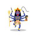 kali hindu goddess isolated on white vector image