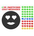 lady love smiley icon with bonus smile set vector image vector image