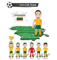 lithuania national soccer cup team football vector image