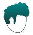 man faceless head in blue lines vector image vector image
