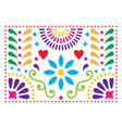 mexican folk art pattern colorful design vector image vector image