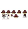mini character nomad boy kit cowboy vector image vector image