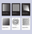 modern abstract halftone poster design set vector image vector image